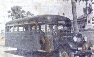 Auto ônibus urbano no Ceará na década de 1930