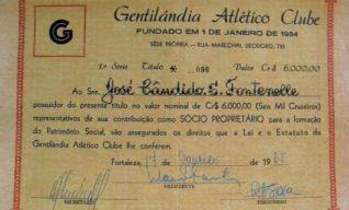 Título de Sócio do Gentilândia Atlético Clube