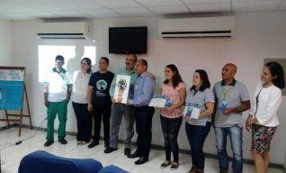 Empresa Vix Logística recebendo o Troféu PMQA – 2017